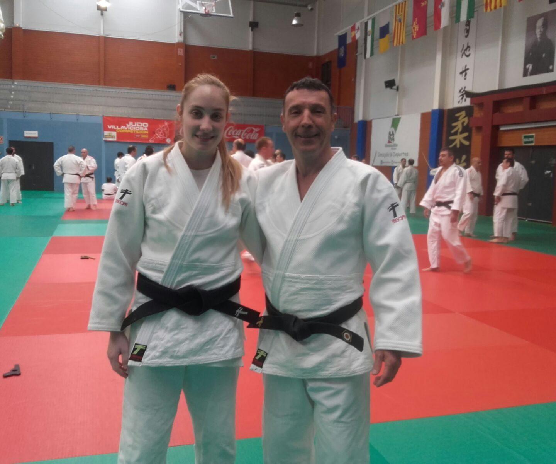 Antonio y Cristina Berrocal en el curso de katas de Madrid 12/02/17