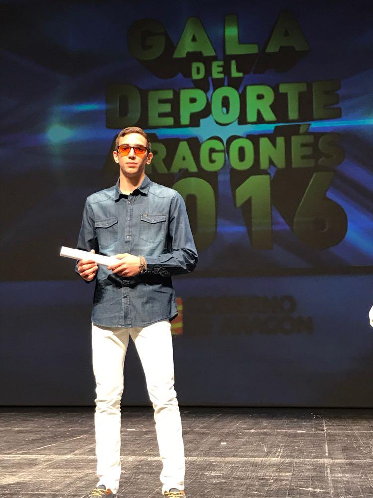 Sergio Ibañez finalista en la gala del deporte aragonés 17/10/17