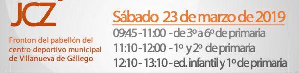 II Jornada de promoción JCZ Villanueva (ed. infantil y primaria) inscrip. hasta 15/03/19
